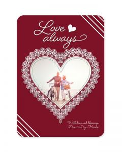 Lace Heart Valentine's Day Card