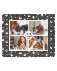 Paw Prints Photo Blanket