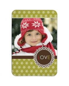 Loverly Snowflakes 3.5X5 Magnet