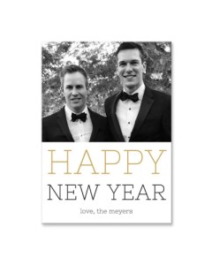 Cheers to the New Year 5x7 Card