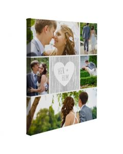 Her And Him Wrapped Canvas Print