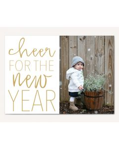 Cheer New Year 5x7 Card