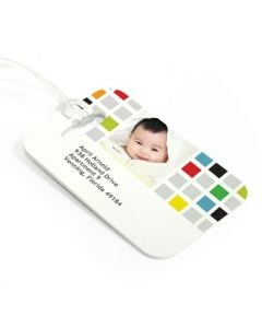 Colored Squares Luggage Tag