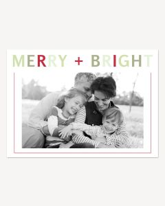 Merry + Bright 5x7 Card