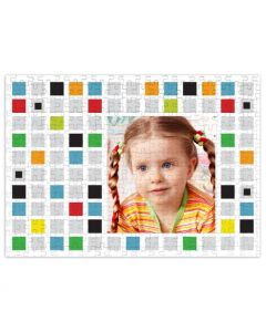 Colored Blocks 252 Piece Puzzle