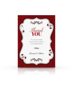 Romantic Thank You Card