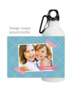 Patterned Tape Water Bottle