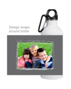 Painted Grey Water Bottle